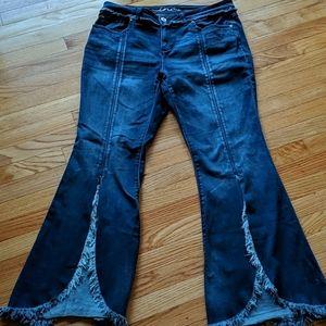 INC flare leg regular fit size 14 boho jeans